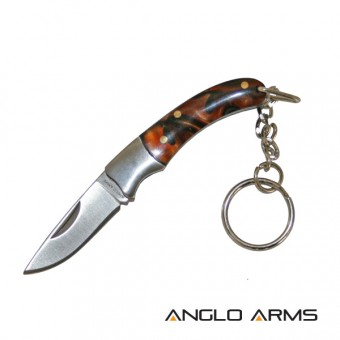"Mini 2"" non locking Stainless Foldaway Knife on a keyring"