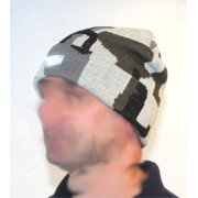 Camo Beanie Hat With Integral LED Light