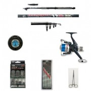 Telescopic Carbon Coarse Fishing Rod and Reel with Accessory kit.