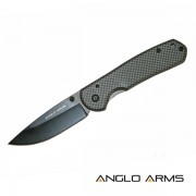 Lock Knife with Carbon Fibre Coated Handle and Nylon Case