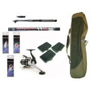 Carbon Telescopic Sea Fishing Set With Travel Holdall Ideal For Beginners Or Holidays