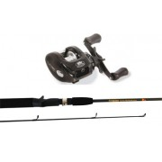 6' (1.8m) Baitcasting 2 Piece Rod & Reel Fishing Combo