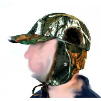 Camo LED Light Baseball Cap with Fur Lined Ear Warming Flaps