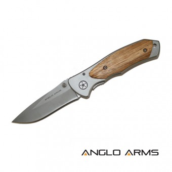 Lock Knife with Zebra Wood Onlay Handle and Nylon Case